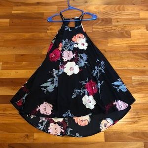 Charlotte Russe floral high low dress